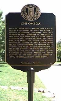 chi o historic marker; founded at university of arkansas