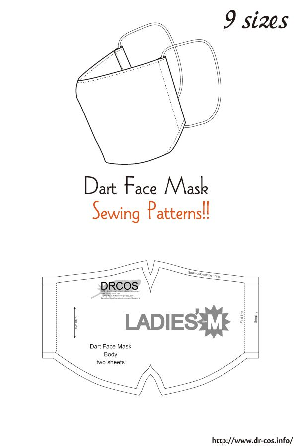 Dart Face Mask Free Sewing Patterns Easy Face Mask Diy Mens Face Mask Face Mask Tutorial