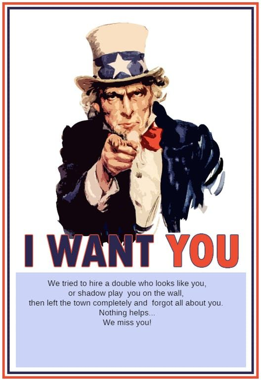 Uncle Sam Missing You - Printable Thoughts  Feelings Card random