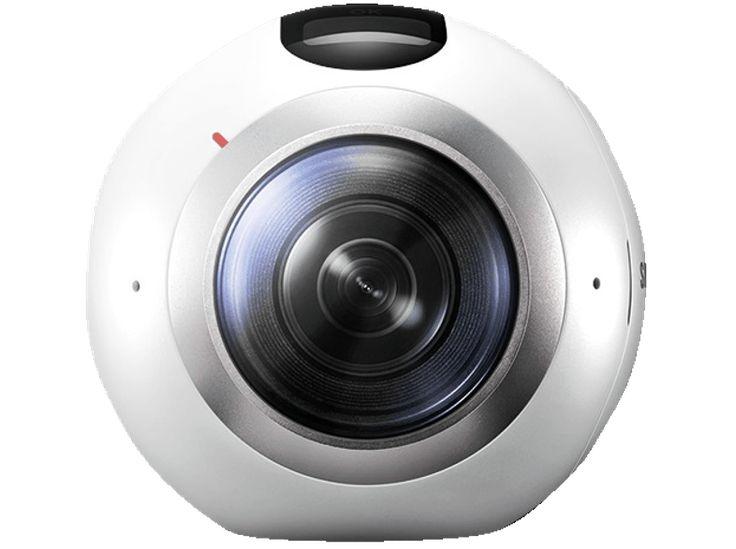 SAMSUNG Gear 360 360° Kamera     360° Kamera     15 Megapixel1 GB, erweiterbarer Speicher: MicroSD Karte bis 200 GB     Wi-Fi 802.11a/b/g/n/ac (2.4 / 5 GHz), Wi-Fi Direct, Bluetooth v4.1, USB 2.0, NFC     66.7 mm x 56.2 mm x 60 mm / 145 g