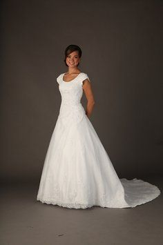 17 best modest wedding gowns on sale images on pinterest for Temple ready wedding dresses