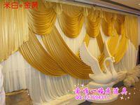 Fashion Customized Wedding Backdrop Gold Brief Style Wedding drape Curtain For Individuation wedding decoration 3*6M