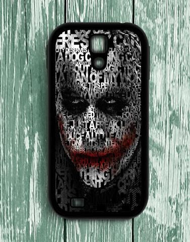 Joker Quotes Typhography Samsung Galaxy S4 Case