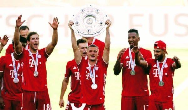 بايرن ميونيخ يتوج باللقب الدوري الالماني لمرة ثامنة على توالي Football Sports Jersey Fictional Characters