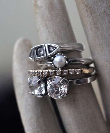 iosselliani silver stacked rings
