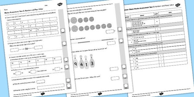 Year 2 Maths Assessment: Number and Place Value Term 1