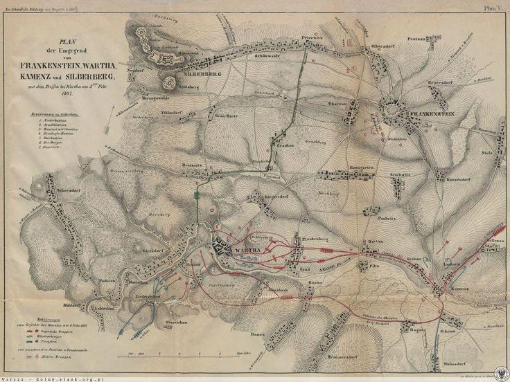 Mapy i plany, Ząbkowice Śląskie - 1807 rok, stare zdjęcia