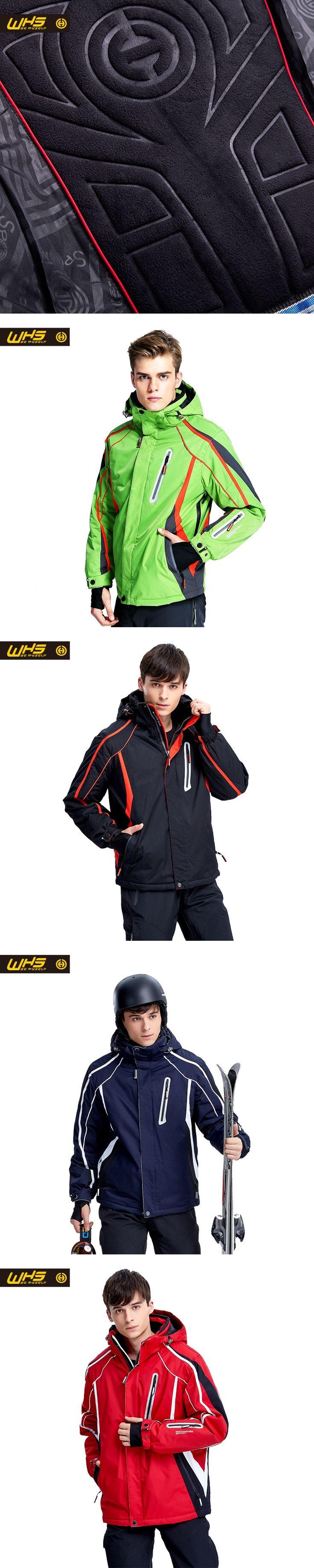 WHS New Skiing jacket men outdoor sport coat warm windproof snow jackets waterproof breathable Sportswear winter