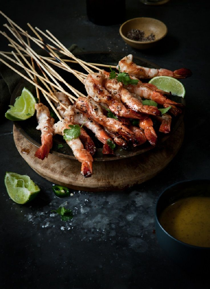Cook for the match! June 23rd - Australia: BBQ Prawns with Mango, Lime, Tamari and Mint Dressing