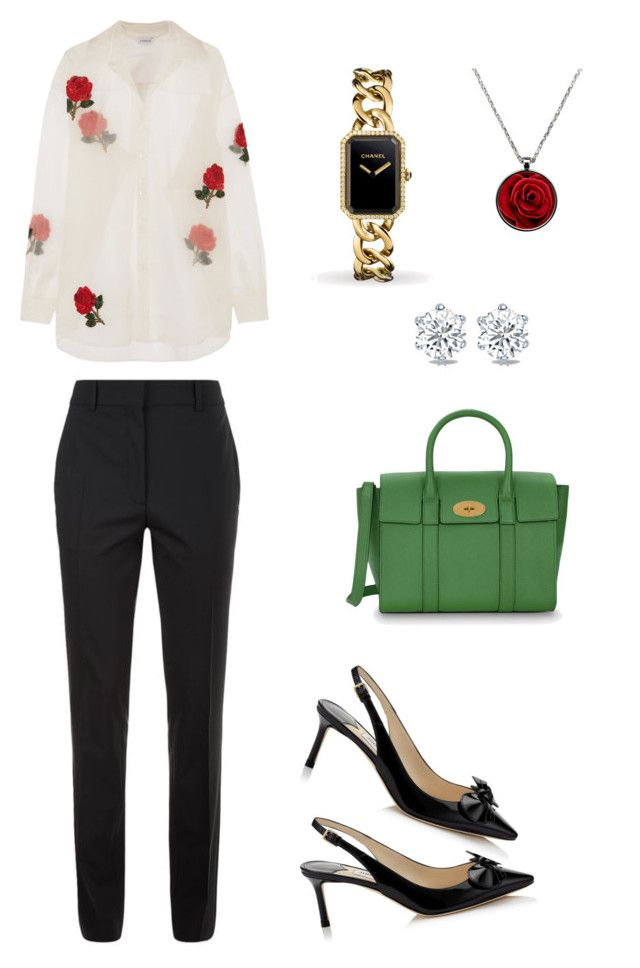 """Tuesday still busy.. #tuesday #officelook #ayunritaretnani #fashion"" by ayunritaretnani on Polyvore featuring Ashish, Victoria Beckham, Jimmy Choo, Mulberry and Chanel"