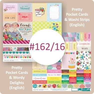 Pretty Pocket Cards & Wahsi Strips/Pretty Pocket Cards & Wordy Delight (English)