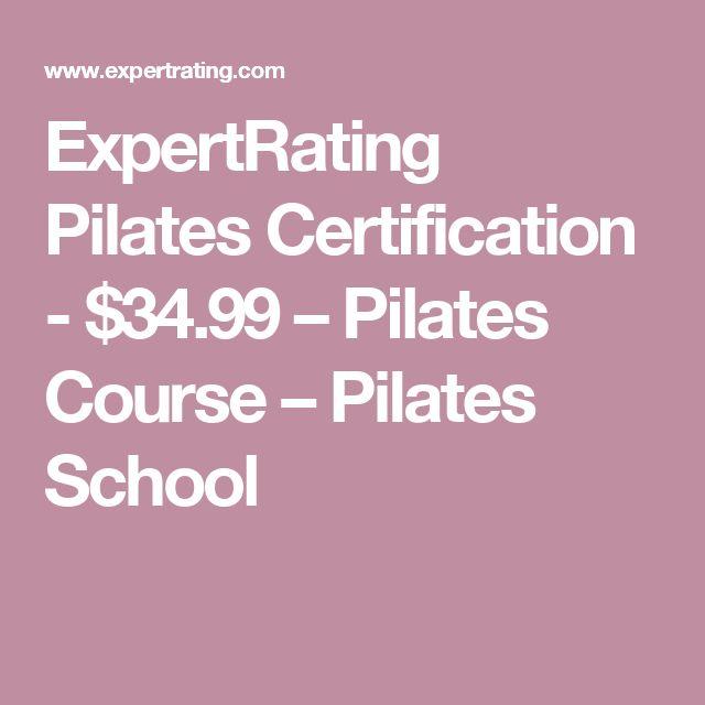ExpertRating Pilates Certification - $34.99 – Pilates Course – Pilates School