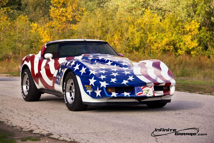 "Corvette Stingray 1963 >> Americana ""Red, White & Blue"" Corvette | Americana ""Red, White & Blue"" Pride. | Pinterest ..."