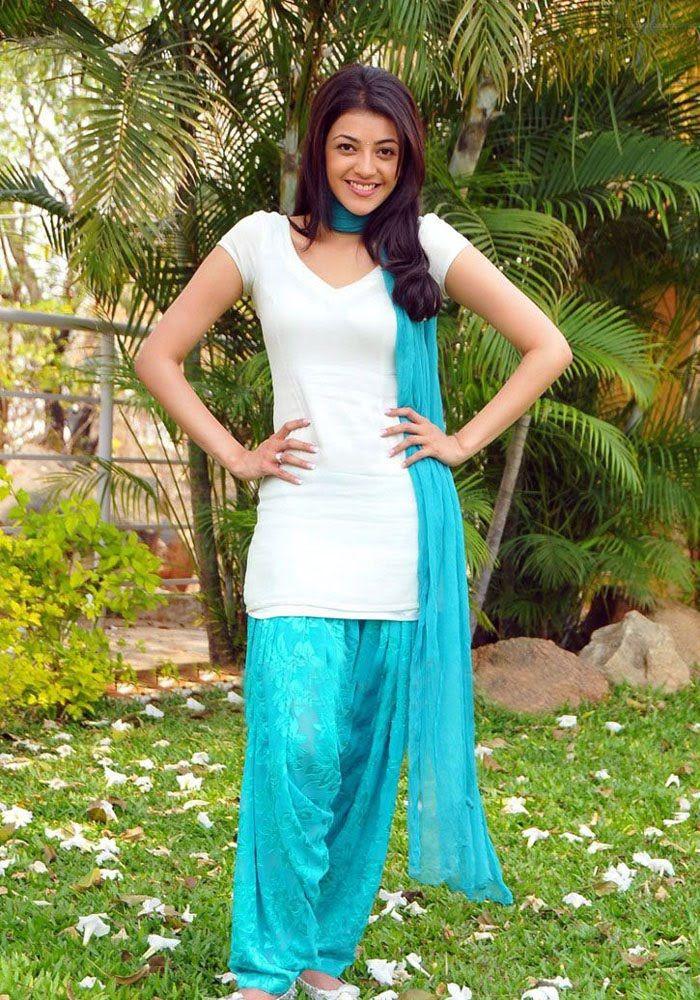 kajal Agarwal Photos In Blue Punjabi Dress