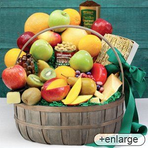 Voted #1 Best Food Gift Baskets by Connecticut Magazine Delicious variety of cheeses, candy, snacks, fruit, and more! Due to federal regulations, substitutions will be made for citrus in baskets shipped to AZ, CA, FL, HI, LA, PR, TX Stew Leonard's - Awesome Fruit Basket