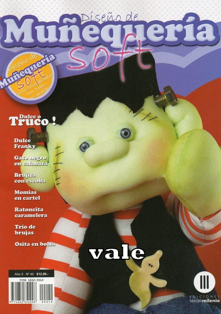 Revista con el paso a paso y los patrones completos de todos los muñecos soft. Muñequeria soft.