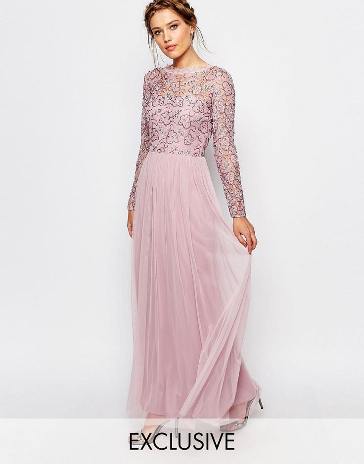 Image 1 ofFrock and Frill Embellished Lace Overlay Maxi Dress