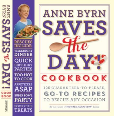 Save the Day! Cookbook presents 125 guaranteed tried-and-true recipes for every occasion. Whether they are Anne Byrn's own family favorites or collected from her network of fans across the country, these go-to recipes include Bacon and Cheddar Torte, Stuffed Jalapeño Pepper; Shrimp and Cheese Grits, Sweet- and-Sour Brisket; Grilled Tuna Salade Nicoise, Mocha Cake, Lemon Snow Pudding, Easy Peach Pie, and many more. Full-color photos throughout.
