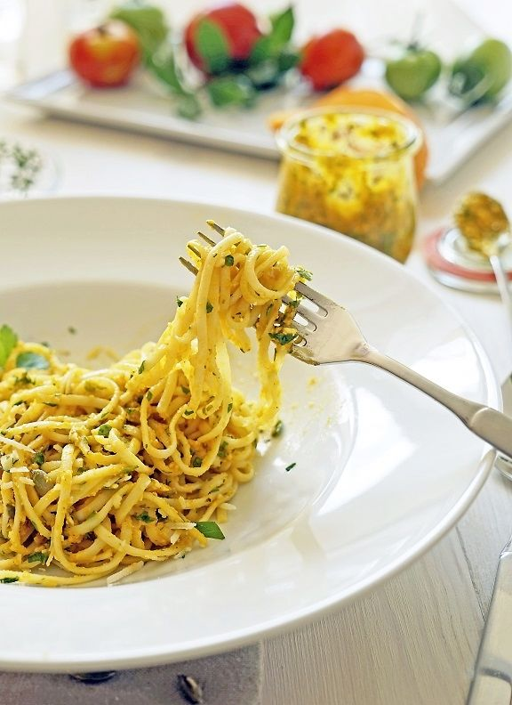 Pasta mit Kürbis-Pesto