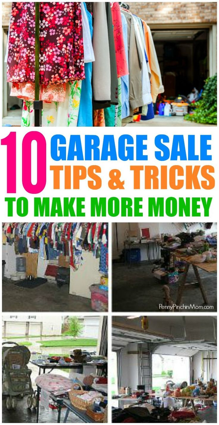 Tips and Tricks for A Successful Garage Sale - I've made more than $1,000 on mine time and time again!    Garage Sale Tips | Yard Sale Tips | Garage Sale Organization | Garage Sale Ideas | Make Money from Home | Declutter | Organize via @PennyPinchinMom