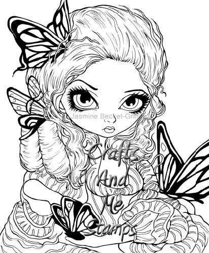 jasmine becket griffith coloring pages | Jasmine Becket Griffith Fairy Coloring Pages Sketch ...