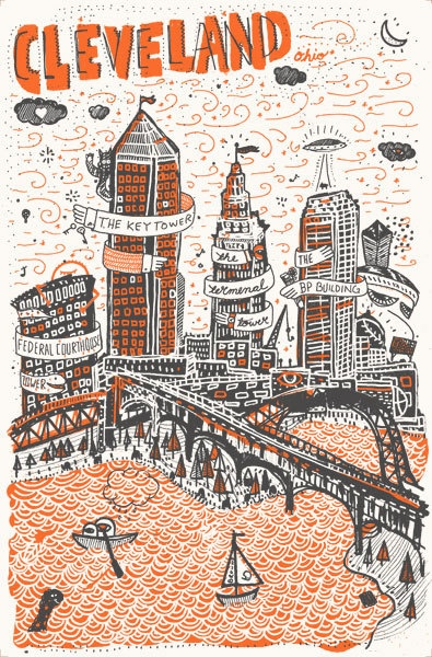 17 best images about cleveland skyline paintings on for Cleveland skyline tattoo