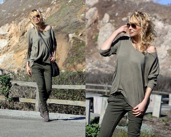 Get this look: http://lb.nu/look/7925978  More looks by Marzena Lewandowska: http://lb.nu/stellamonella  #khaki #olive #totallook #boots