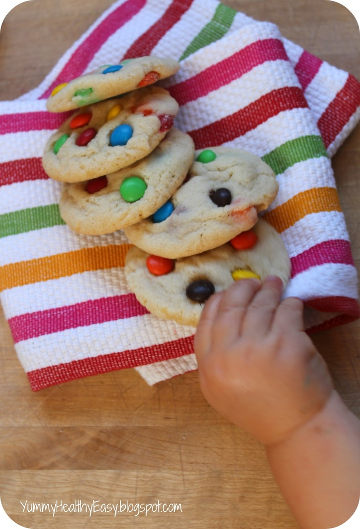 Chewy M and M Sugar Cookies: Healthy Ish Food, Sugar Cookies, M M Sugar, Mm Sugar, Yummy Healthy, Chewy Mm, Healthy Easy, Easy Recipes, Chewy M M
