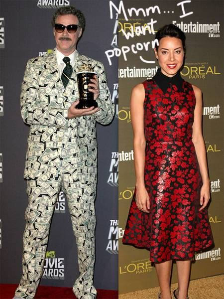 Will Ferrell got Kanyed at the MTV Movie Awards when Aubrey Plaza stormed the stage.