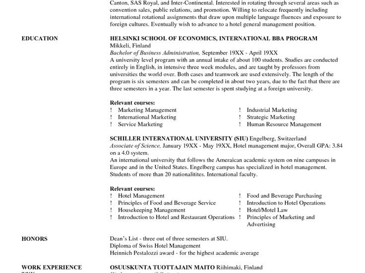 Best 25+ Professional resume writers ideas on Pinterest Resume - hotel management resume format