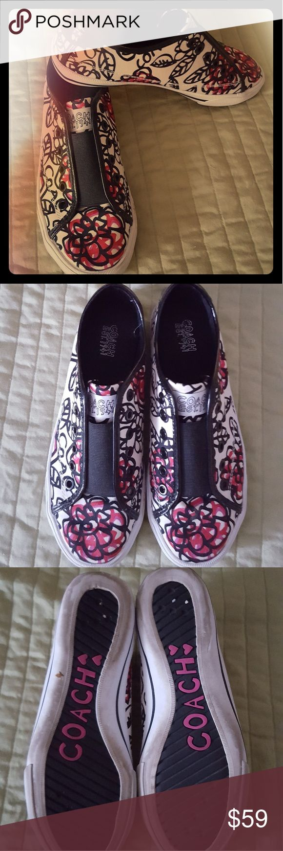 Coach sneakers Gently loved Coach sneakers, slip on, very comfortable. Coach Shoes Sneakers