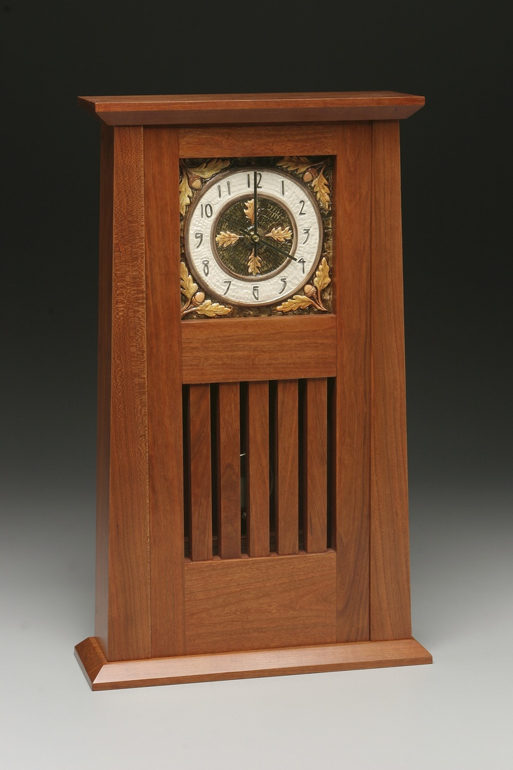Arts and crafts mantle clock - Arts And Crafts Clock Mission