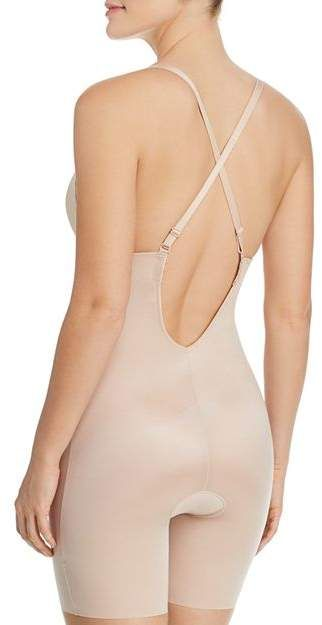37abb8d10d9 Spanx Suit Your Fancy Plunge Low-Back Mid-Thigh Bodysuit  Fancy Suit Spanx