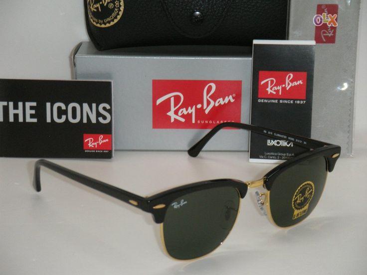 Óculos de Sol Ray Ban ClubMaster RB 3016 - Pretos