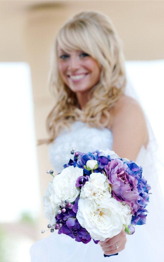 Purple Bouquet  Wedding Bouquet Hydrangea by blueorchidcreations