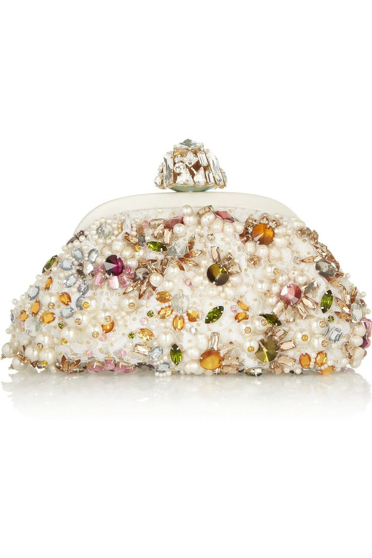 Dolce & Gabbana | Dea small embellished lace clutch