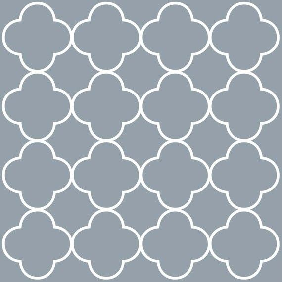 quatrefoil vinyl - backsplash? focal point wall?: Fun Patterns, Stencil Siluett, Vinyls Patterns, Wall Decal, Favorite Patterns