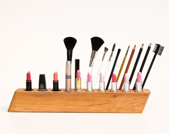 Makeup Organizer BIG SCARLETT Y Cosmetic Organizer by lessandmore, $140.00