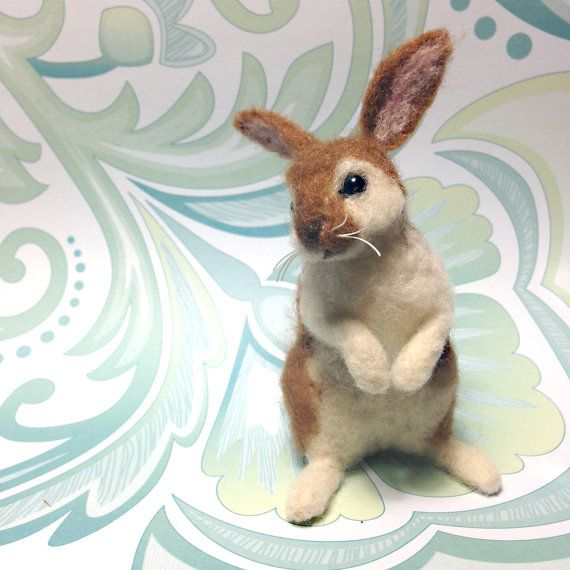 Needle Felted Miniature Lapin / Lapin