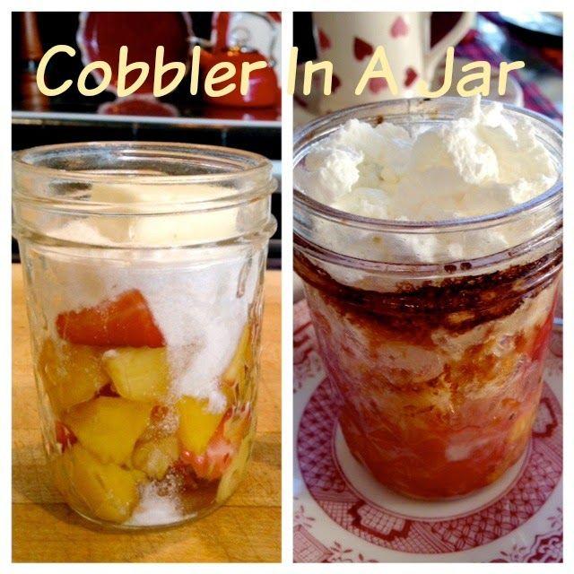 Rita's Recipes: Cobbler In A Jar
