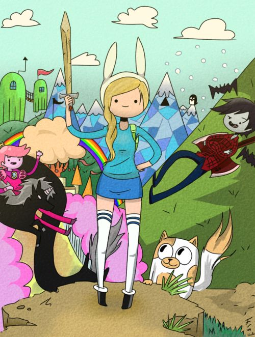 Adventure time with Fionna and Cake by... | Hora de Aventura