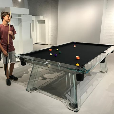 Testing the table after another successful installation in New York City. #newyork #nyc #design #designweek #interiordesign #interiors #gameroom #pooltable #billiard #pingpong #tabletennis #losangeles #miami #lasvegas #poker #mahjongg #foosball #madeinitaly #losangeles #glass #beirut #dubai #fancy
