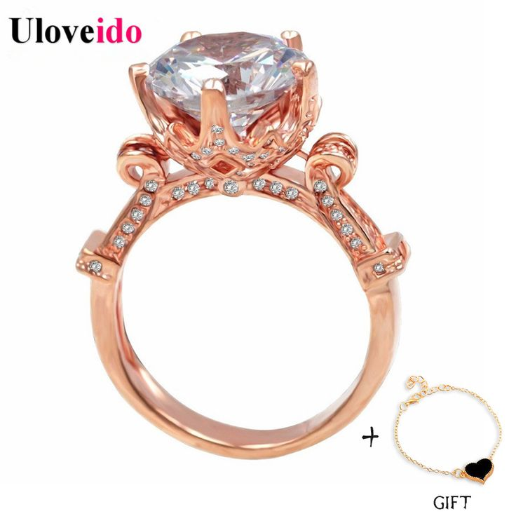 Find More Rings Information about Uloveido 50% off Big Unique CZ Diamond Rose Gold Punk Luxury Ring Set Jewelry Love Rings Mix Women Ladies Wedding Bands Y127,High Quality band google,China band Suppliers, Cheap band format from Ulovestore Fashion Jewelry on Aliexpress.com