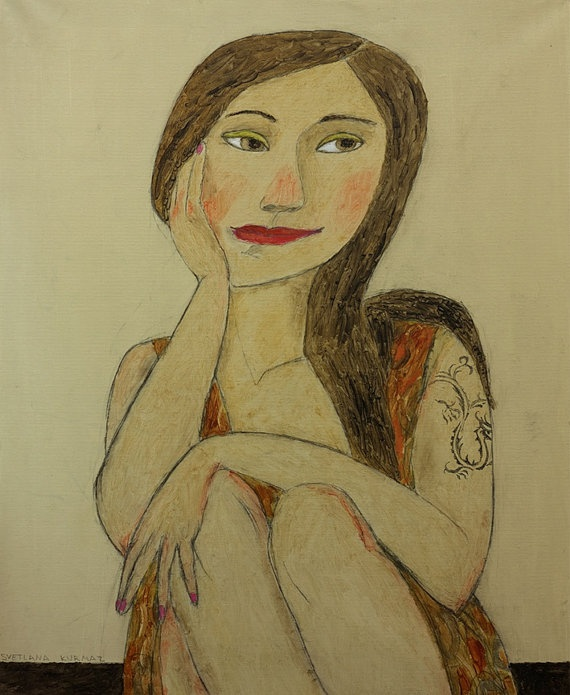 GIRL with the DRAGON TATTOO print on paper by TwiggyStudio on Etsy, €15.00
