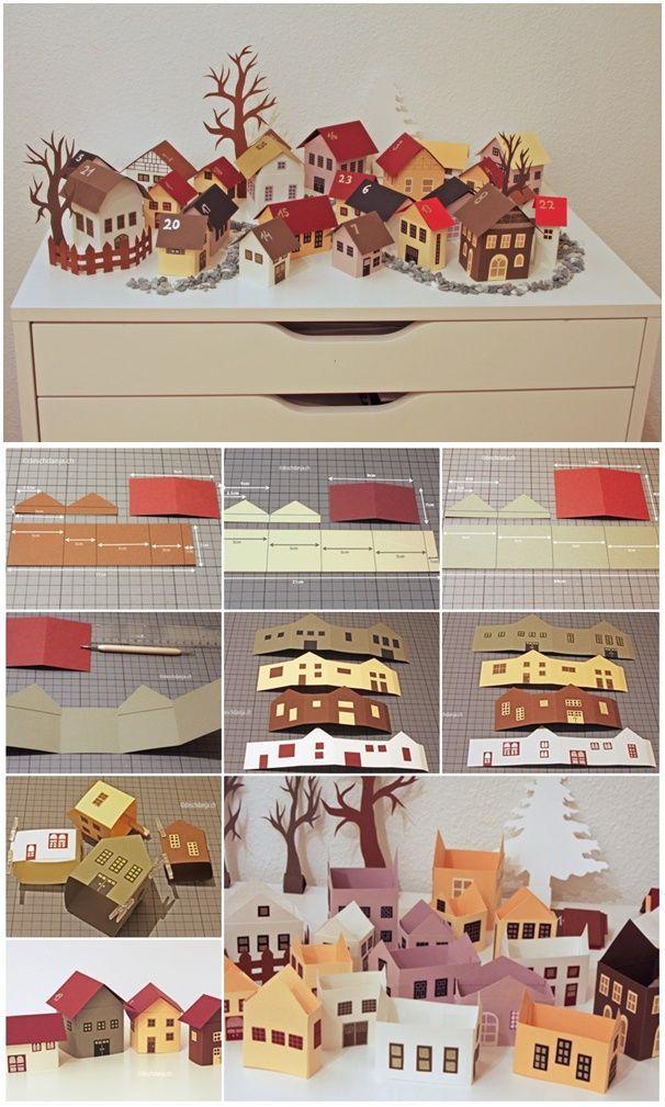 DIY My Winter City Paper Advent Calendar