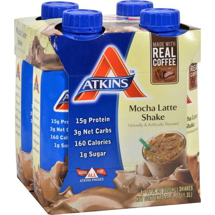 Atkins Advantage Rtd Shake Mocha Latte - 11 Fl Oz Each - Pack Of 4