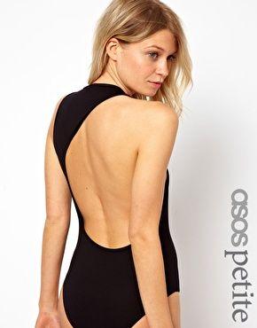 ASOS Petite | ASOS PETITE Exclusive Body With Asymmetric Back at ASOS