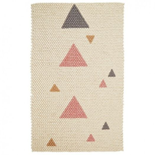Designed With Solid Colour Background And Peppered A Handful Of Colourful Triangles This Rug Looks Beautiful In The Living Room Kids Playroom