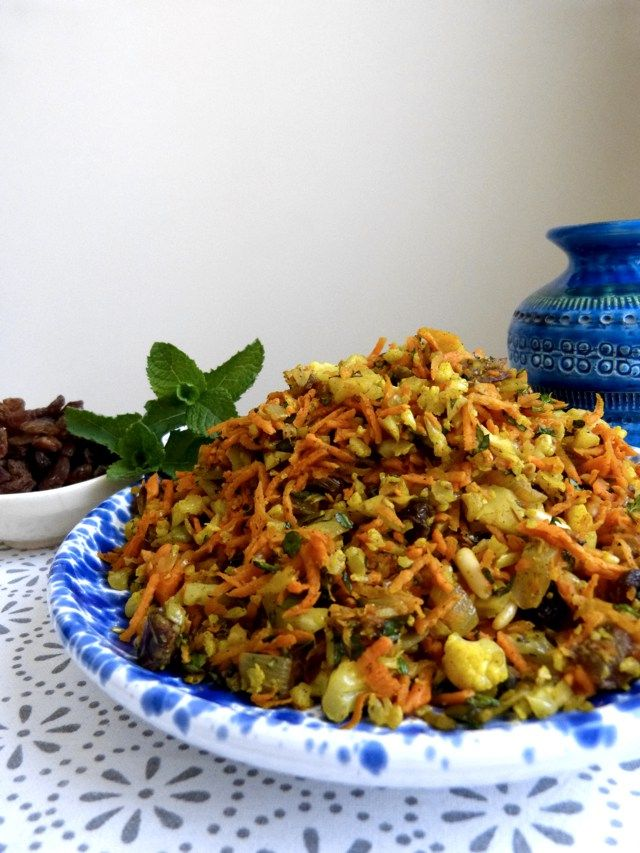 Moroccan Inspired 'Cous Cous' Salad with Carrot, Dates and ...