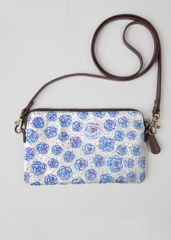 Free Shipping Shopping Online High Quality Leather Statement Clutch - Hydrangea Swirl by VIDA VIDA Release Dates Cheap Price Fake Cheap Online For Sale Online GXoISday